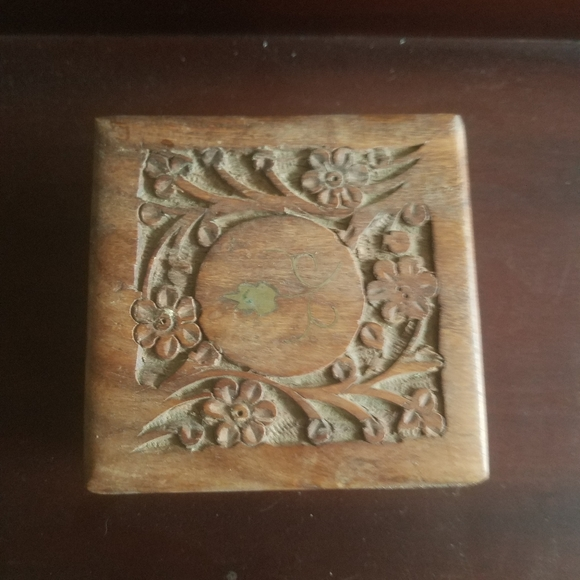 Hand Made Other - Hand Carved Teak Box